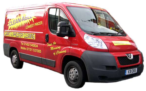 Clean-Able carpet cleaning van Gloucester